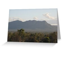 Evening Light on the Mountain Side, Grampian Mountains by Lorraine McCarthy Greeting Card