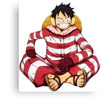 luffy red white Canvas Print