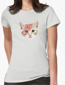 Bowie Cat Womens Fitted T-Shirt