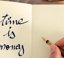 Motivational concept with handwritten text TIME IS MONEY Sticker