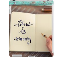 Motivational concept with handwritten text TIME IS MONEY iPad Case/Skin