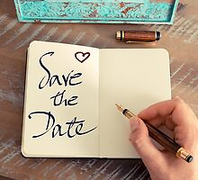 Motivational concept with handwritten text SAVE THE DATE by Stanciuc