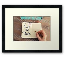 Motivational concept with handwritten text SAVE THE DATE Framed Print