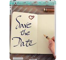 Motivational concept with handwritten text SAVE THE DATE iPad Case/Skin