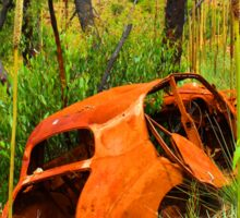 Rusty wreck in the Adelaide Hills Sticker