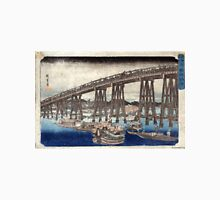 Cooling Off At Ryogoku Bridge - Hiroshige Ando - 1833 - woodcut Unisex T-Shirt