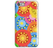 Painted Abstract Flower Seamless Pattern iPhone Case/Skin