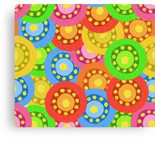 Painted Abstract Flower Seamless Pattern Canvas Print