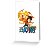 luffy fire Greeting Card