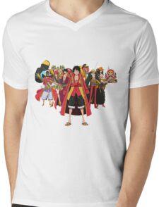one piece crew Mens V-Neck T-Shirt