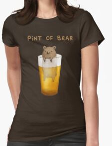 Pint of Bear Womens Fitted T-Shirt