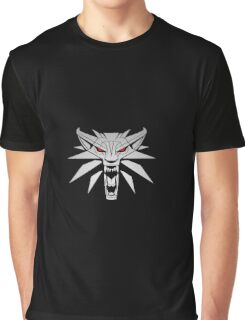 The Witcher 3 Red Eyed Wolf Graphic T-Shirt
