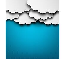 Cloudy Background Photographic Print