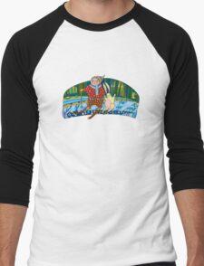 Boy Hare Skis Winter Forest Men's Baseball ¾ T-Shirt