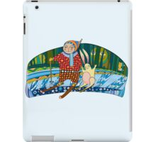Boy Hare Skis Winter Forest iPad Case/Skin
