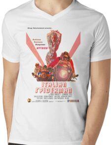 Italian Spiderman Poster - ONE:Print Mens V-Neck T-Shirt