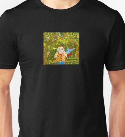 Children's play in forest Unisex T-Shirt