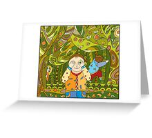 Children's play in forest Greeting Card