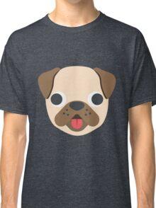 Pug face emoji Classic T-Shirt