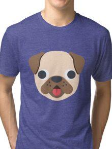 Pug face emoji Tri-blend T-Shirt