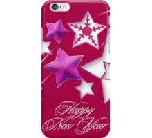 Fushia and Red Happy New Year Shooting Stars iPhone Case/Skin