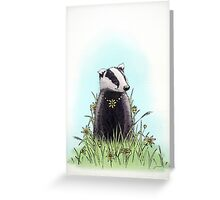 Daisy's Badger Greeting Card