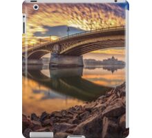 Between sky and water at the Margaret bridge in Budapest iPad Case/Skin