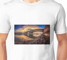 Between sky and water at the Margaret bridge in Budapest Unisex T-Shirt