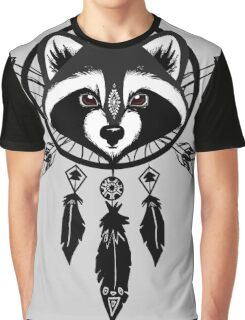 Raccoon Catcher Graphic T-Shirt