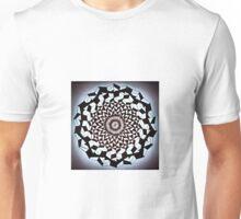 Black White Wrapped Spine Unisex T-Shirt