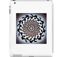 Black White Wrapped Spine iPad Case/Skin
