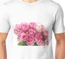 Pink Roses Bouquet Unisex T-Shirt