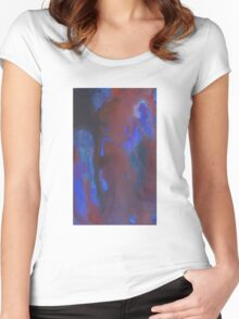 Painted Waterfalls Women's Fitted Scoop T-Shirt