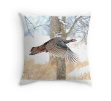 As God as my Witness... Wild Turkeys can fly! Throw Pillow