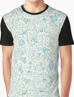 Pattern with funny doodle cats Graphic T-Shirt