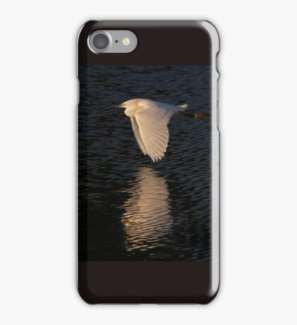 Snow over Water - Snowy Egret iPhone Case/Skin