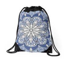 Moroccan Blue  Drawstring Bag