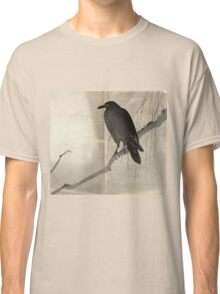 Crow On A Willow Branch - anon - c1880 Classic T-Shirt