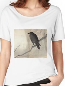 Crow On A Willow Branch - anon - c1880 Women's Relaxed Fit T-Shirt