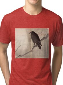 Crow On A Willow Branch - anon - c1880 Tri-blend T-Shirt