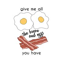 bacon and eggs Photographic Print