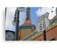 Route 66 in WDW Canvas Print