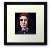 Young Man Framed Print