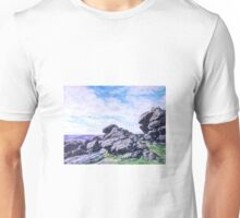 Hound Tor, Dartmoor Unisex T-Shirt