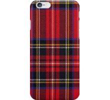 Red Tartan Fabric Design iPhone Case/Skin