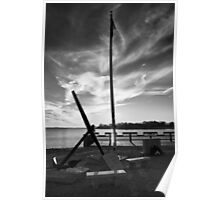 Evening At The Memorial B&W Poster