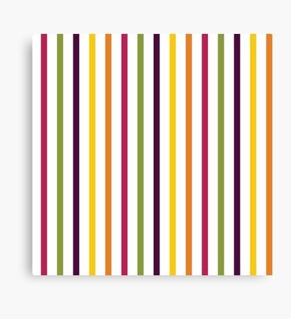 Fruit Tree Stripe Pattern Canvas Print