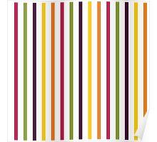 Fruit Tree Stripe Pattern Poster