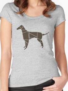 Origami Dog Women's Fitted Scoop T-Shirt