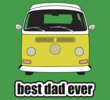 Best Dad Ever Yellow Early Bay Kids Clothes